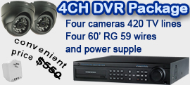 4Ch DVR package